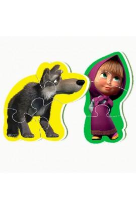Бебі пазли Міні Маша та медведь (2 шт в наборе) VT1107-02