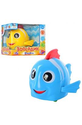 Рибка T94-D2249/3088A їздить, рухає плавиком і хвостом, муз., світло, бат., кор., 15,5-14-13 см.