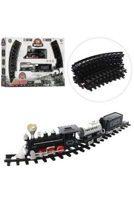 ЖД YY-097 локомотив, вагон 2 шт., 15 дет., муз., світло, бат., кор., 50-36-8,5 см.