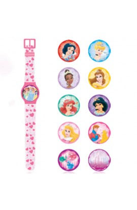 Годинник Disney Princess з набором змінних панелей для циферблату (5 функцій: місяць, дата, години,