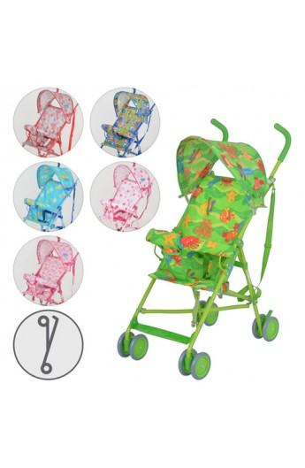 Візок дитячий M 1702 прогулянковий, 6 кольорів, кор.