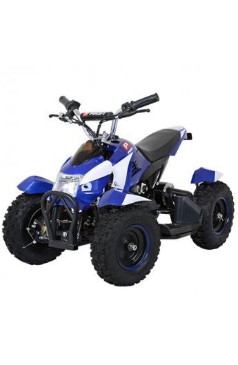 Квадроцикл HB-6 EATV 800-4-1 мотор 800W, 3 акум. 12A/12V, 30 км/год, вага до 100 кг, біло-синій