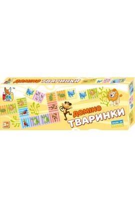 Настільна гра  Доміно тваринки  0202