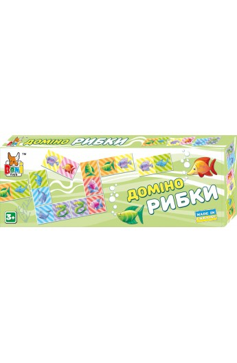 Настільна гра  Доміно рибки  0226