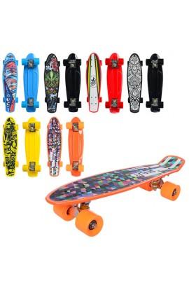 Скейт MS 0298 пенні, алюм.подвеска, колеса ПУ, 5 кольорів, 56-14,5 см.