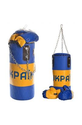 Набір боксерський M 2658 груша, рукавички, сітка, 57-21-21 см