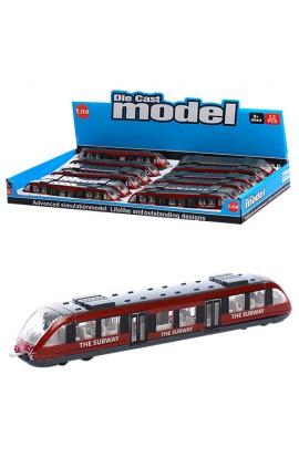 Поїзд TN-1079 мет., 12 шт. в диспл., 40-21-4 см.