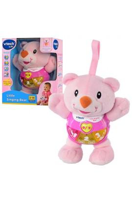 Ведмедик 073353 рожевий, муз., світло, бат., кор., 19-15-9 см