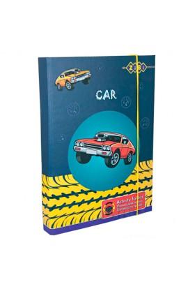 """/Папка для праці, картонна, """"CAR"""", на гумках А4+ (315х215х30мм)"""