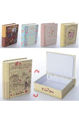 Скринька M154 мет., книга, мікс видів, кул., 11-9-3 см.