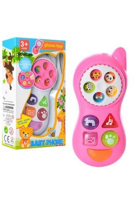 Телефон B6200 2 кольори, муз., світло, бат., кор., 9-16,5-4 см.