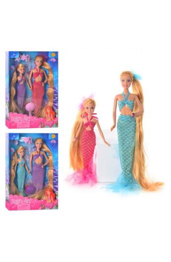 Лялька 8235 русалочка, 2 шт., гребінець, заколки 3 шт., 3 кольори, кор., 32-21-5,5 см