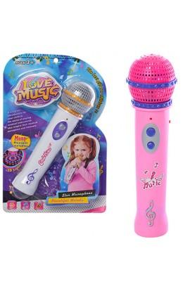 Мікрофон 9810-12 2 види, муз., світло, бат., лист, 28-17,5-5,5 см.