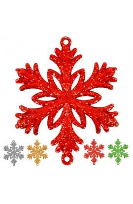 Сніжинка цвітна 7.5см 4шт/уп, J01164