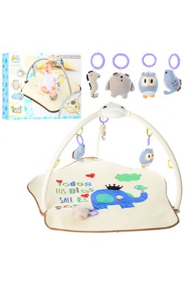 Килимок для немовляти 63556 (6шт) дуга,подвіска3шт,проектор,
