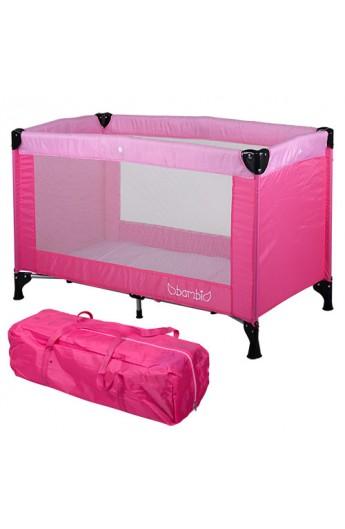 Манеж M 3658-8 дитячий, сумка, рожевий, 120-60-76 см.