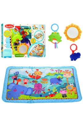 Килимок для немовляти KK2630 шарудіння, пискавка, підвіски 3 шт., дзеркало, кор., 68-45,5-7 см.