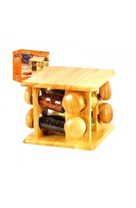 Набір для спецій на дерев'яній підставці 8шт/наборі, MS-0372