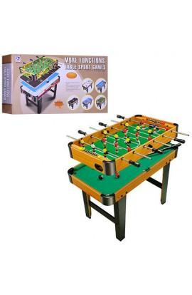 Гра настільна 6002B-2 дерево, на ніжках, 2 в 1 (футбол на штангах, більярд), кор., 82-44-14 см.