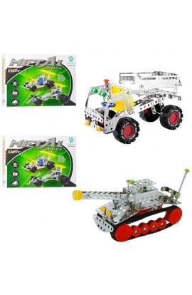 Конструктор 016-019 мет., 2 види (машинка, танк), кор., 30,5-22-4 см.