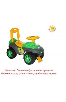 """Машинка-каталка  Автошка"""" 013117/U/02 з муз рулем на укр мові , пісня, розказує ПДР"""