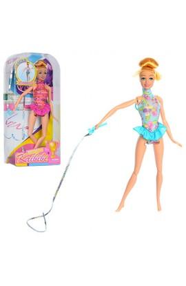 Лялька BLD113 шарнірна, гімнастка, стрічка, 2 види, бліст., 16-32,5-6 см.