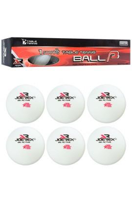 Тенісні кульки MS 1252-1, безшовні, целюлоза, 1 зірка, кор., 26,5-4,5-4,5 см.