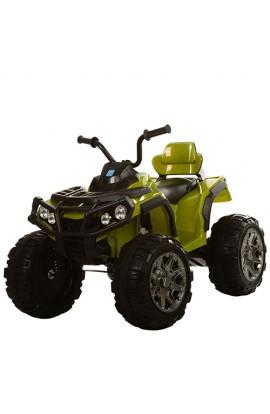 Квадроцикл M 3156EBLR-10 радіокер. 2,4G, 2 мотори, акум. 12V/7AH, колеса EVA, шкір. сид., темно-зеле
