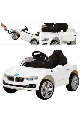 Машина M 3175EBR-1 радіокер., 2 мотори 25W, акум. 2 * 6V4, 5AH, колеса EVA, МР3, USB, аморт., білий.